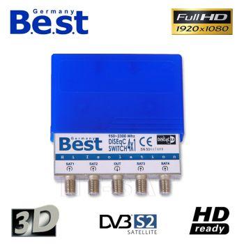 Best DiSEqC Schalter 4/1 mit Wetterschutz