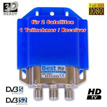 Best DiSEqC Schalter 2/1 mit Wetterschutz