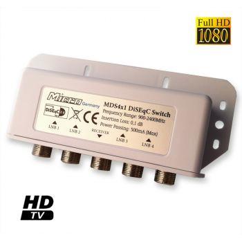 Micro DiSEqC Switch Schalter MDS 4x1 Full HD Wetterschutz