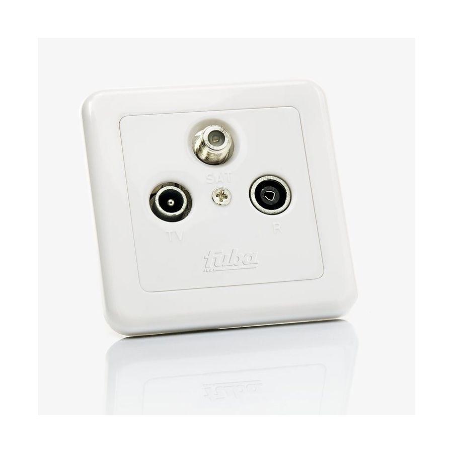 4 Loch 4 fach Antennendose Twin SAT Kabel Dose Enddose HDTV 3D