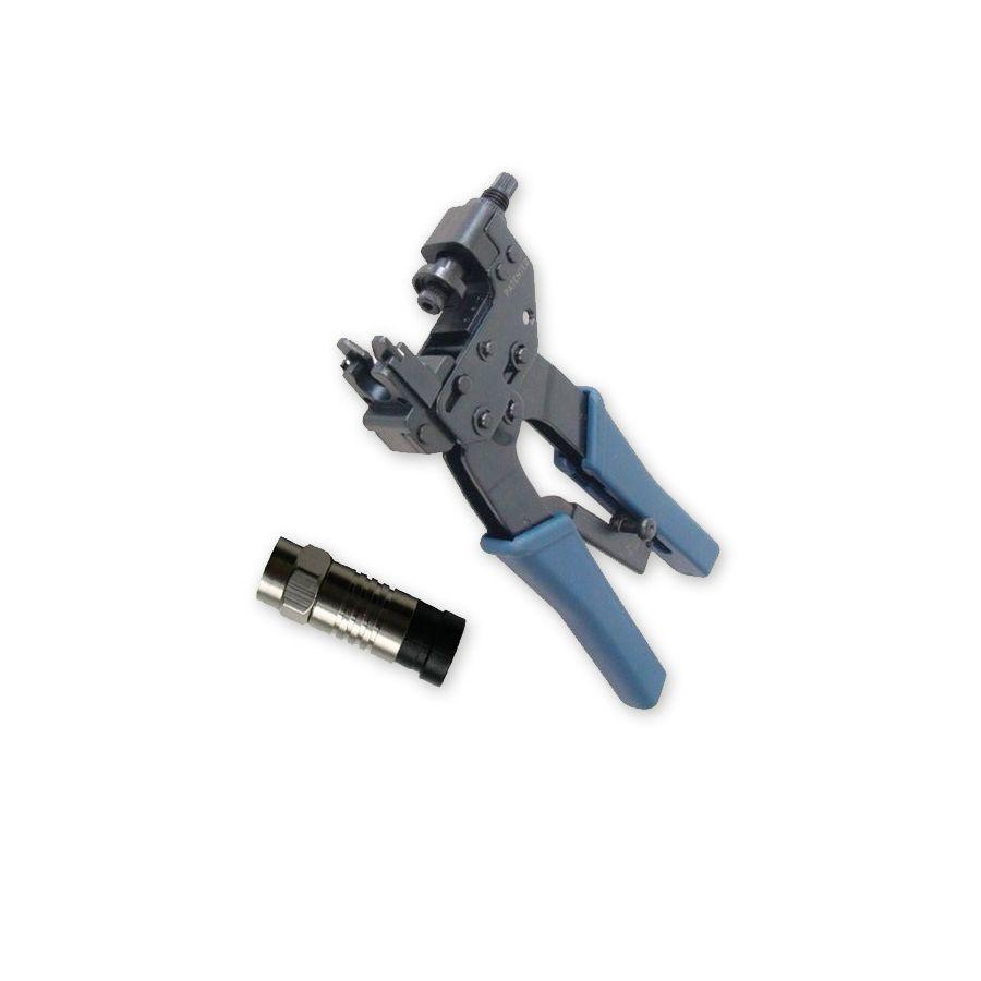 100 x Kompressionsstecker für Sat Kabel Kompressions-Zange Crimpzange