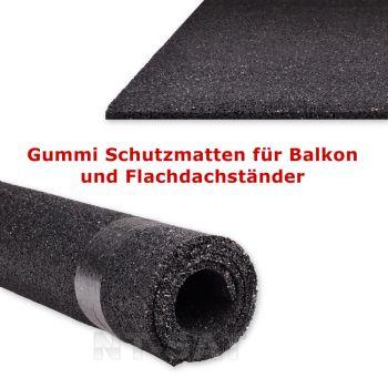 Gummi Schutzmatten für Balkon und Flachdachständer, 52,5 x 52,5 cm