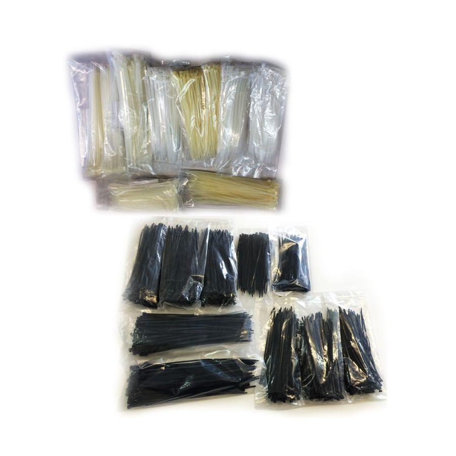 kabelbinder 2000 st ck schwarz wei sortiment set 150 180 200 250 x 2 5 3 4 3 6. Black Bedroom Furniture Sets. Home Design Ideas