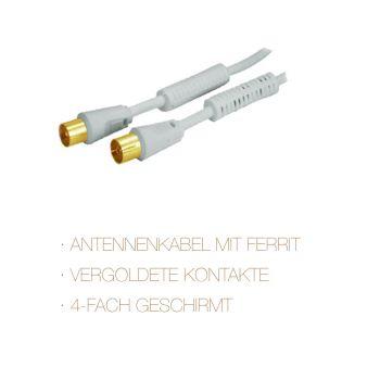 Antennenkabel CP Ferrit verg. 4Fach >110 dB 2,5m