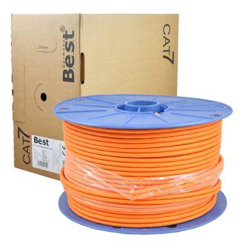 100 m CAT.7 Verlegekabel duplex Netzwerkkabel Kupfer LAN 1000Mhz S/FTP6 5 Kat.7 BEST