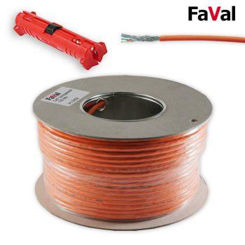 50 m Cat.7 Verlegekabel Netzwerk Kabel Kupfer LAN Abisolierer