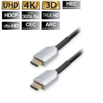 25m HDMI Kabel m. Ethernet ECHT 3D Highend ARC CEC FULL HD TV LCD UHD 4k