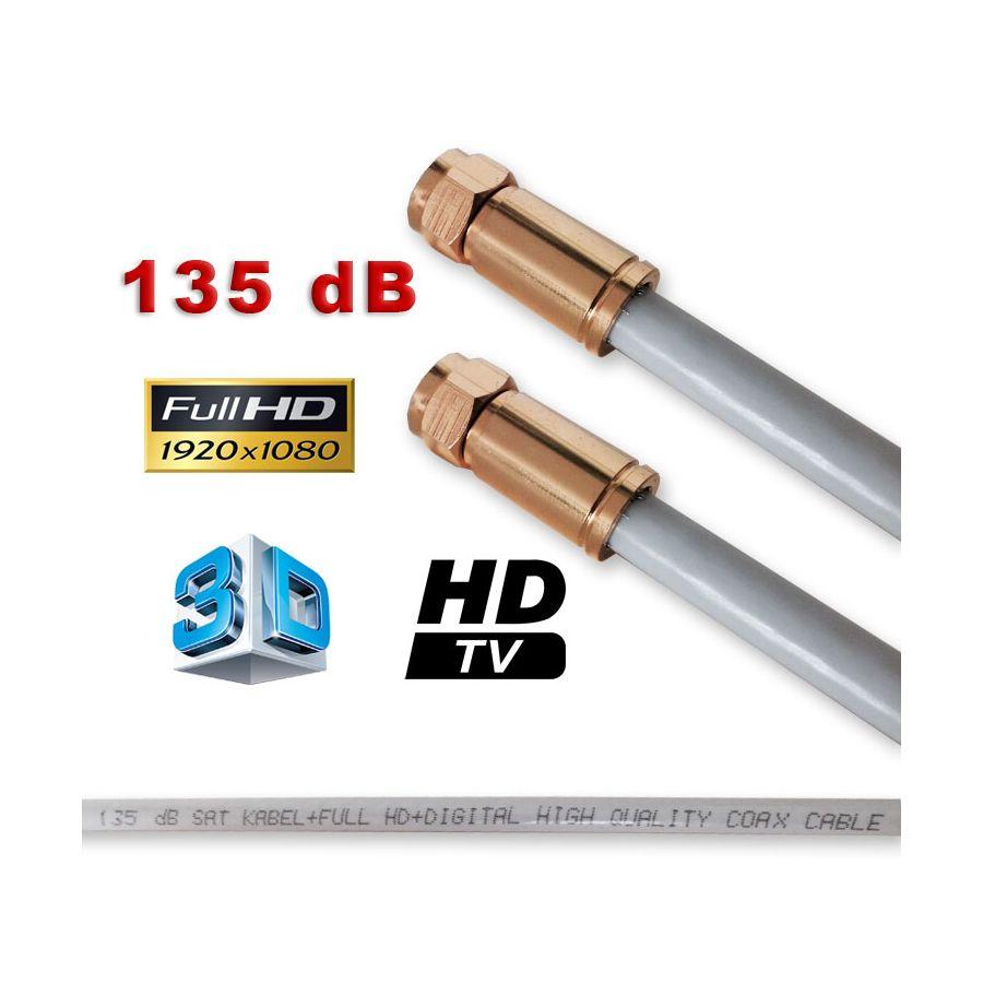 sat kabel antennenkabel koax kabel mit kompressionsstecker f stecker vergoldet 135 max full hd 3d. Black Bedroom Furniture Sets. Home Design Ideas