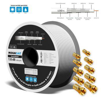 SAT Kabel 135 dB Vollkupfer Sat Kabel 100m Koaxialkabel 5 fach