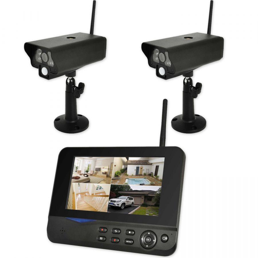 Digitales Kamera Überwachungsset Funküberwachung 2 Kamera Set