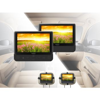 Tragbares Videosystem 2 DVD Player 2 Monitore Auto Tragbares DVD-Player USB