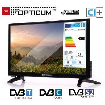 Camping TV Opticum LED TV 20 Zoll USB HDMI DVB-T2 SAT LED
