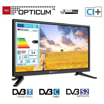 Camping TV Opticum LED TV 24 Zoll USB HDMI DVB-T2 SAT LED