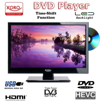 Camping TV 15,6 zoll 40 cm DVB-T2 Xoro 1546 HD LEDTV /DVD /Sat Receiver DVB-C PVR 12volt