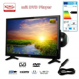 xoro htc 2445 led fernseher mit integriertem dvd player hd triple tuner. Black Bedroom Furniture Sets. Home Design Ideas