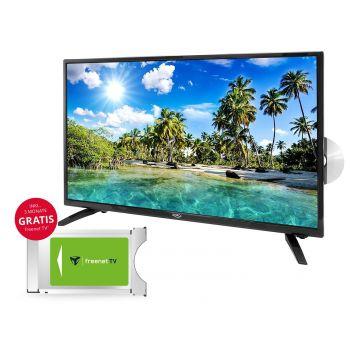32 zoll Fernseher DVB-T2-C-S2 Triple Tuner Xoro HTC 3247 DVD Freenet Module