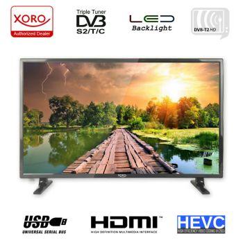 TV 24 Zoll Fernseher Xoro HTC 2447 LED LCD TV, PVR, USB, DVB-T2, HD SAT