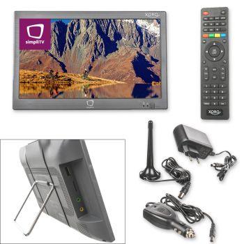 Portabler Fernseher mit integriertem simpliTV Empfang - XORO PTL 1055