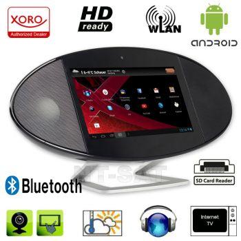Internet TV und Radio mit WiFi, Wetterstation, Multimedia-Player Xoro HMT 390