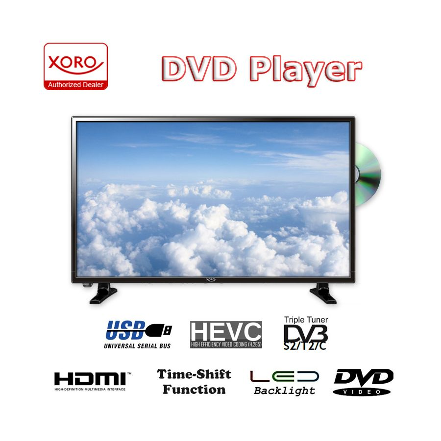 32 zoll fernseher triple tuner dvb t 2 hd ledtv mit dvd. Black Bedroom Furniture Sets. Home Design Ideas