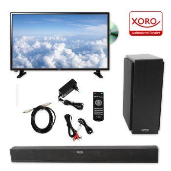 32 zoll Fernseher DVB-T 2 HD LEDTV mit DVD mit Sat Receiver DVB-C + Heimkino