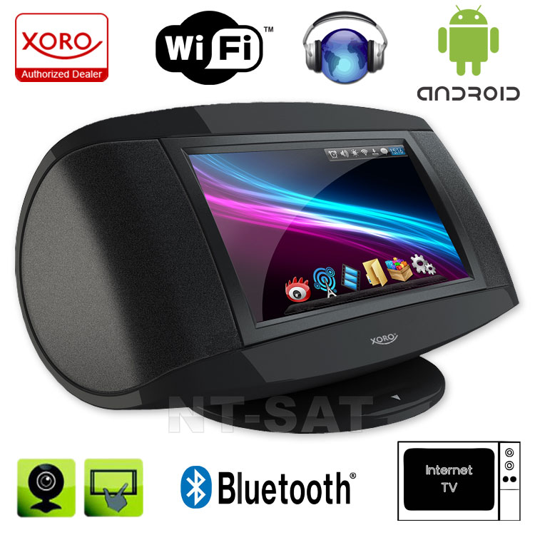 internet radio tv mit wifi xoro hmt380 android bluetooth. Black Bedroom Furniture Sets. Home Design Ideas