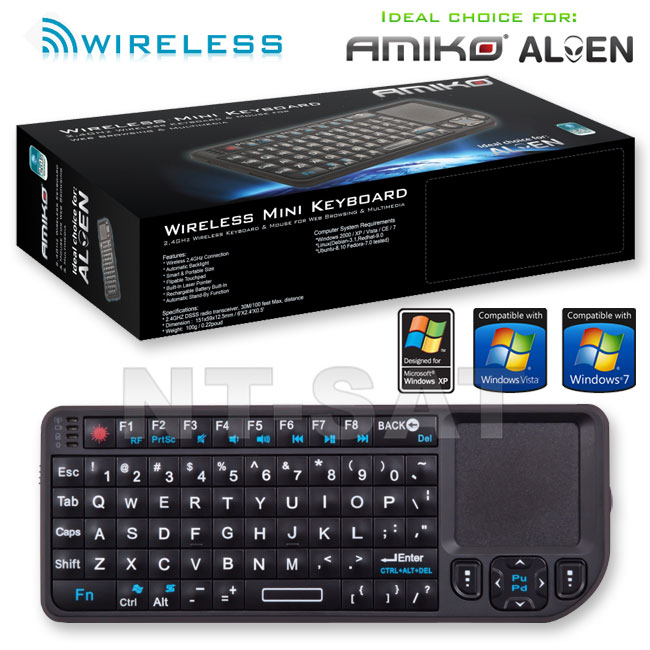 Amiko Tastatur WLK-100 Wireless Keyboard & Touchpad