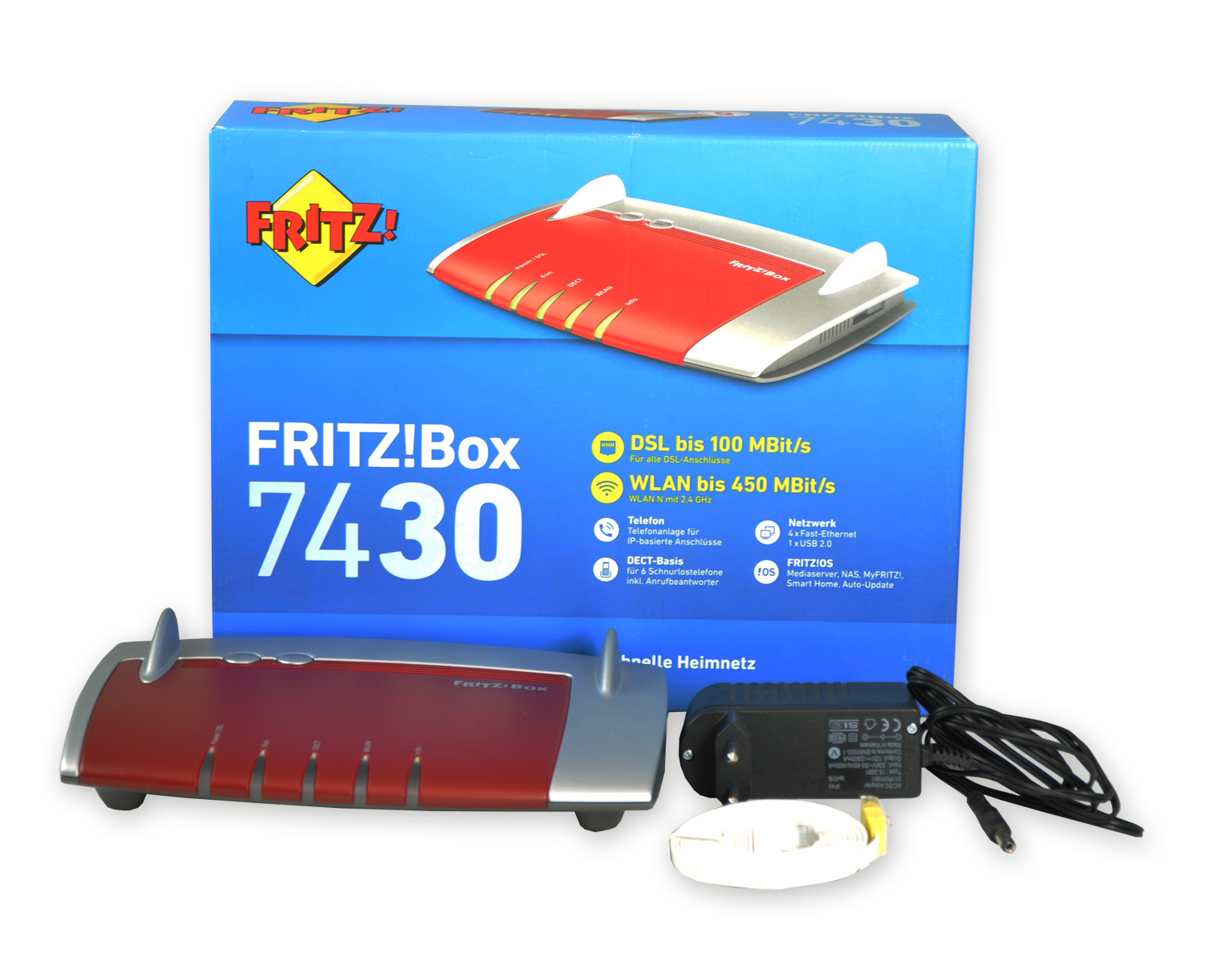 AVM Fritzbox 7430 450 Mbps WLAN Router / Fritz!Box VDSL