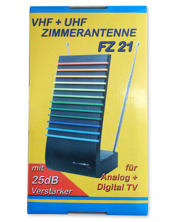 Antenne t l vision d 39 int rieur r glable amplificateur gain for Antenne de tv interieur