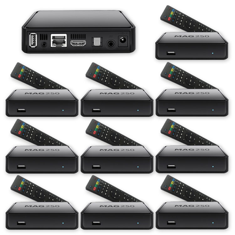 10 x MAG-250 Micro Konsole IPTV SET TOP BOX Internet TV