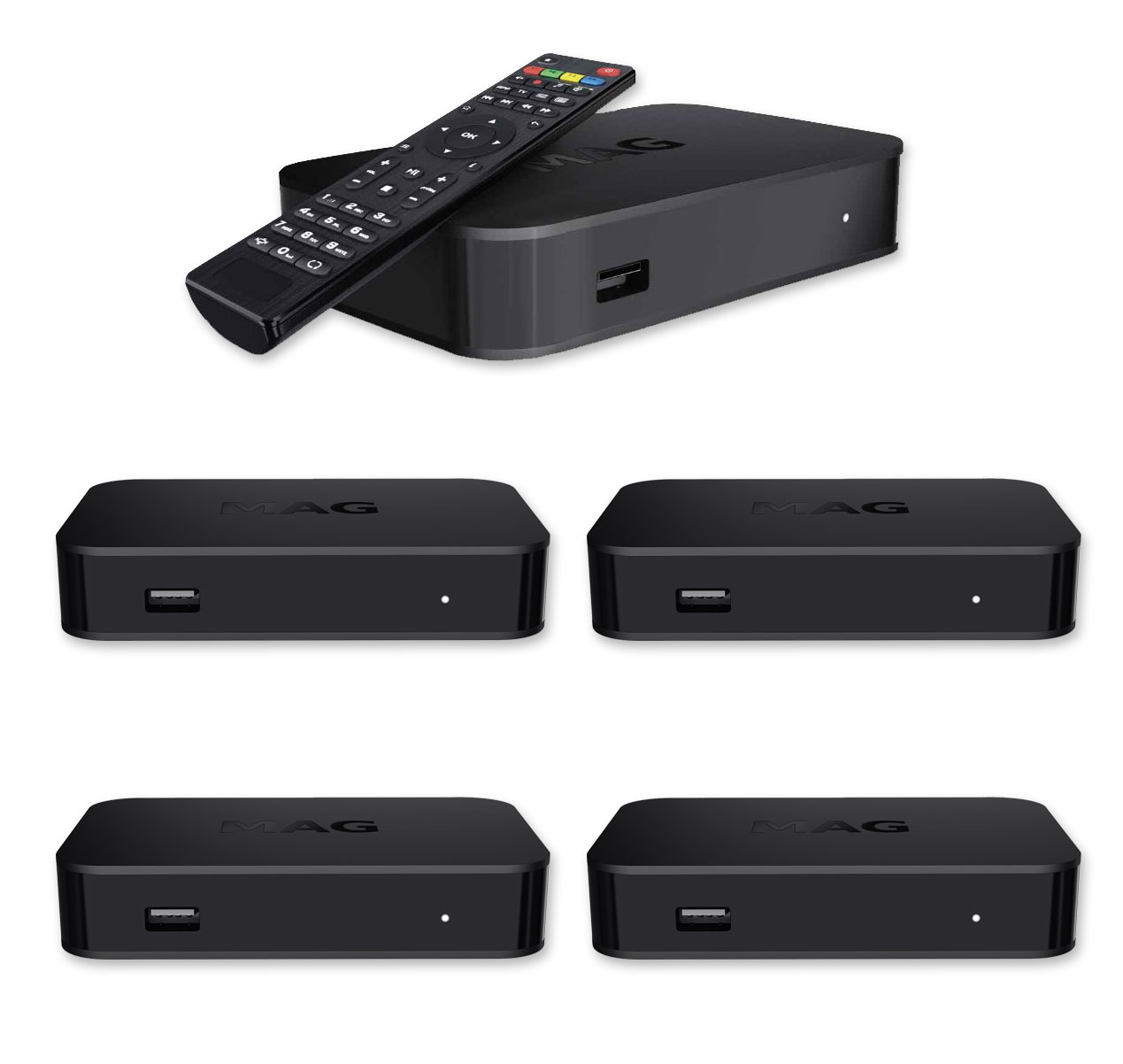5x MAG 322 BASIC IPTV SET-TOP BOX