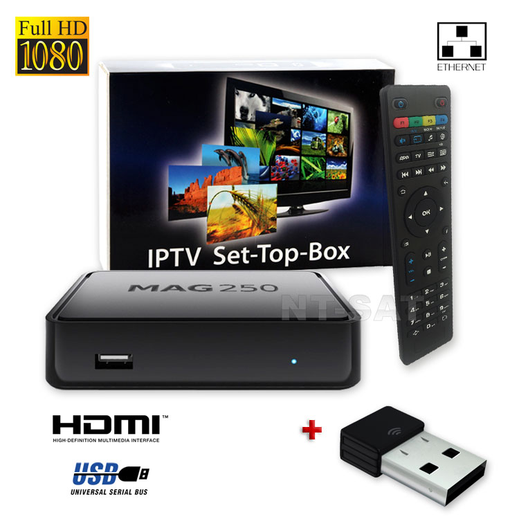 mag 250 box multimediaplayer internet tv box iptv set usb hdmi hdtv wlan stick ebay. Black Bedroom Furniture Sets. Home Design Ideas