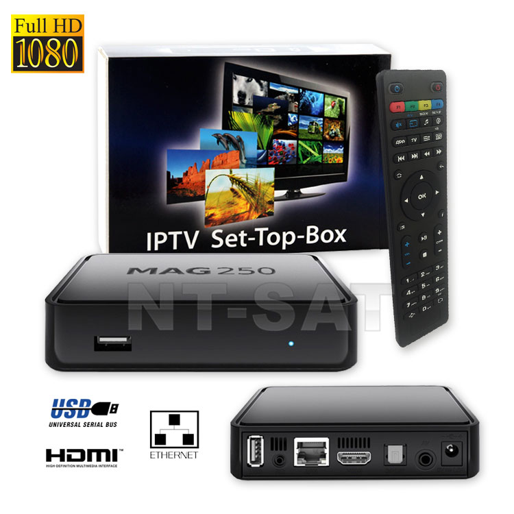 MAG-250 Micro Konsole IPTV SET TOP BOX Internet TV