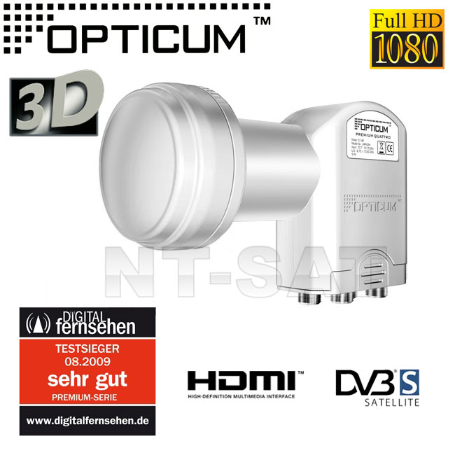 OPTICUM Digital Quattro 0,1 LNB HDTV HD+ 3D Testsieger