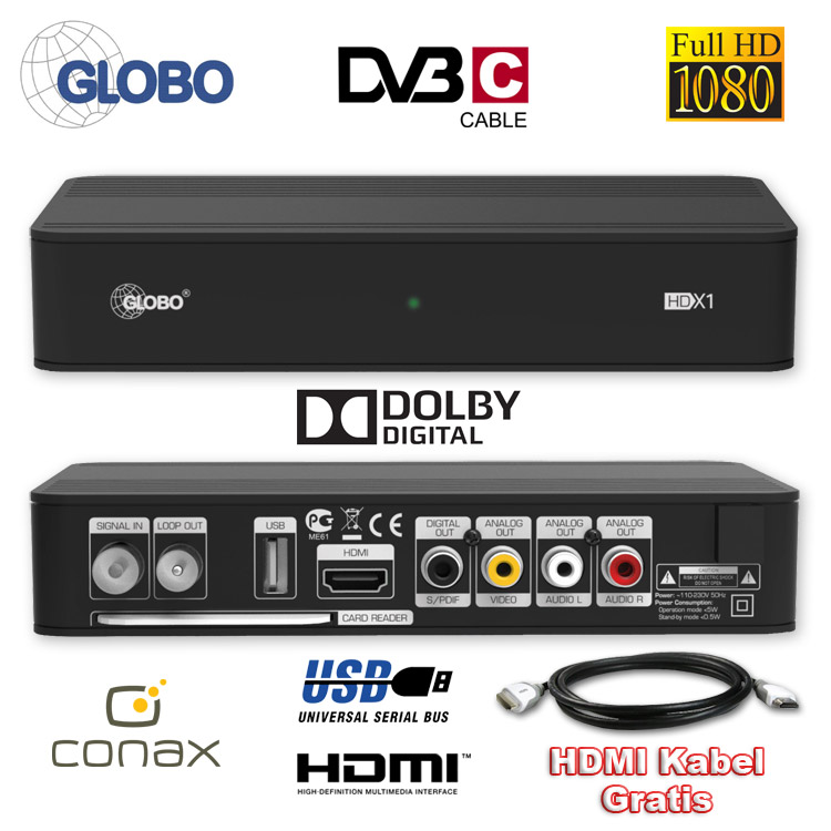 nt sat hd kabel receiver globo opticum hdtv xc1 digitaler. Black Bedroom Furniture Sets. Home Design Ideas