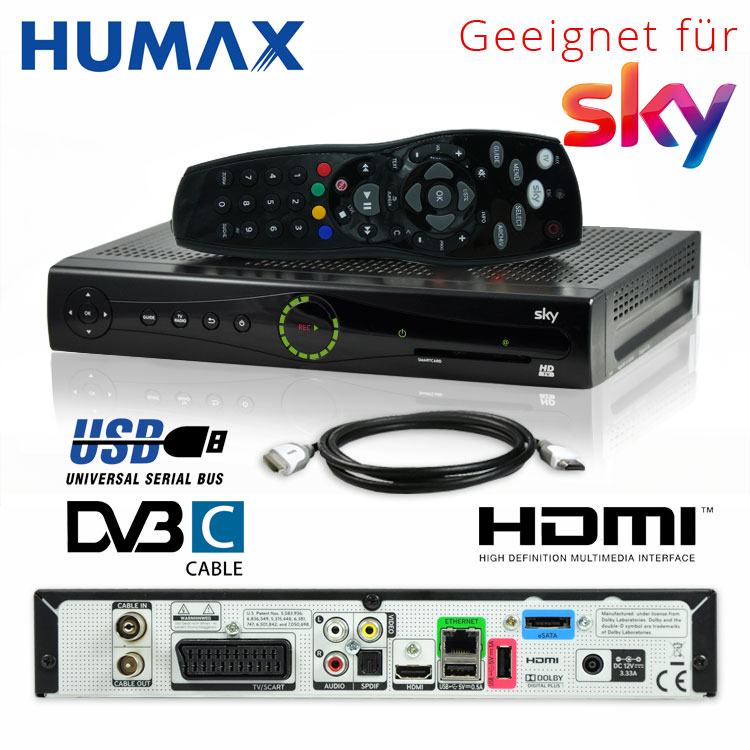 kabel receiver humax pr hd3000c dvb c pvr digital sky s. Black Bedroom Furniture Sets. Home Design Ideas