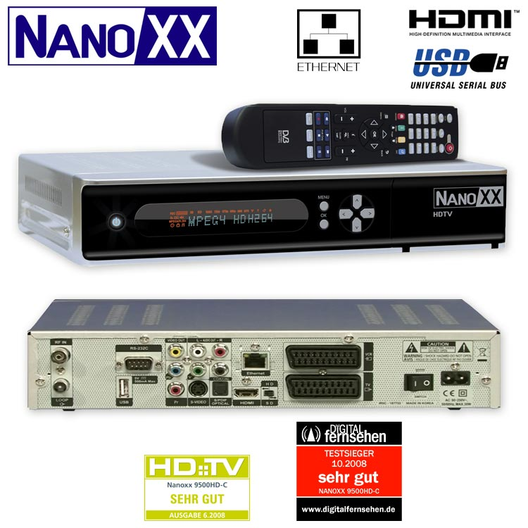 hd kabel receiver dvb c hd c usb lan hdmi 2x ci scart. Black Bedroom Furniture Sets. Home Design Ideas