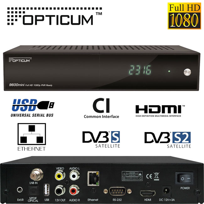 digitaler satelliten receiver opticum hd 9600 mini. Black Bedroom Furniture Sets. Home Design Ideas