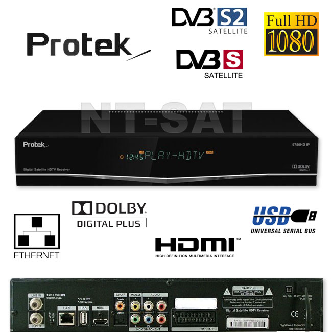 protek 9770 satellite reseiver with 2 remote control hdmi cable lan free ebay. Black Bedroom Furniture Sets. Home Design Ideas