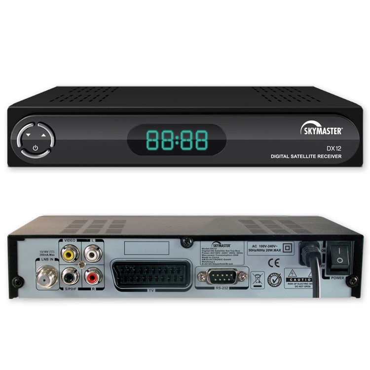 sat receiver skymaster dx 12 digital dvb s digitaler. Black Bedroom Furniture Sets. Home Design Ideas