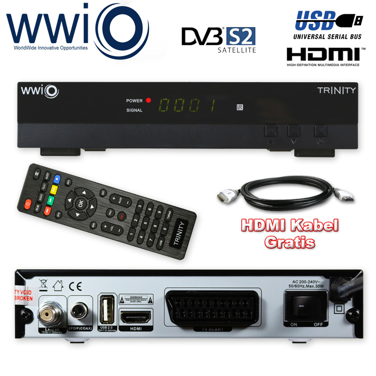 DVB-S2 Digital Satelliten Receiver WWIO TRINITY