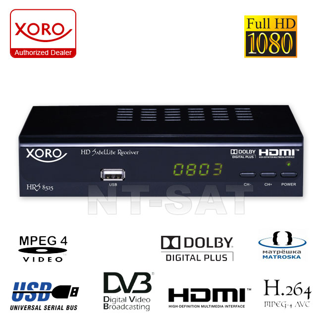 Digital HD Sat-Receiver Xoro HRS 8525 Full-HD USB Mediaplayer HDTV HDMI