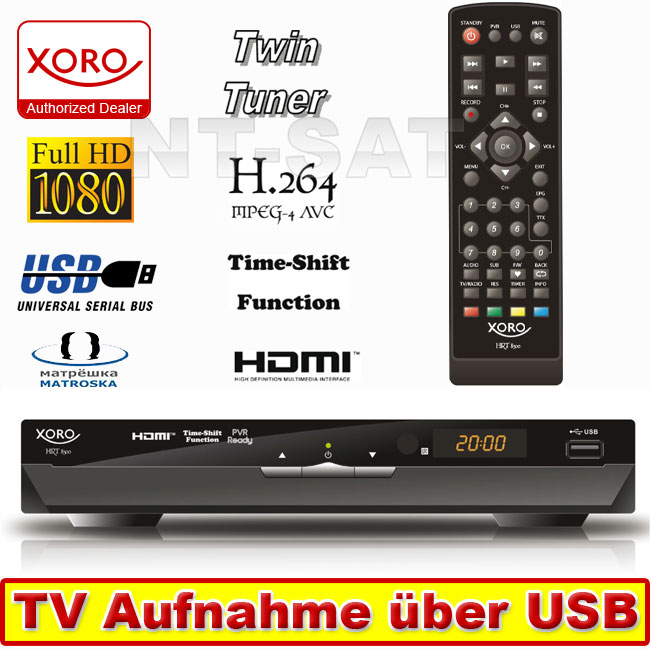 Digital HD DVB-T Twin Tuner Xoro HRT 8300