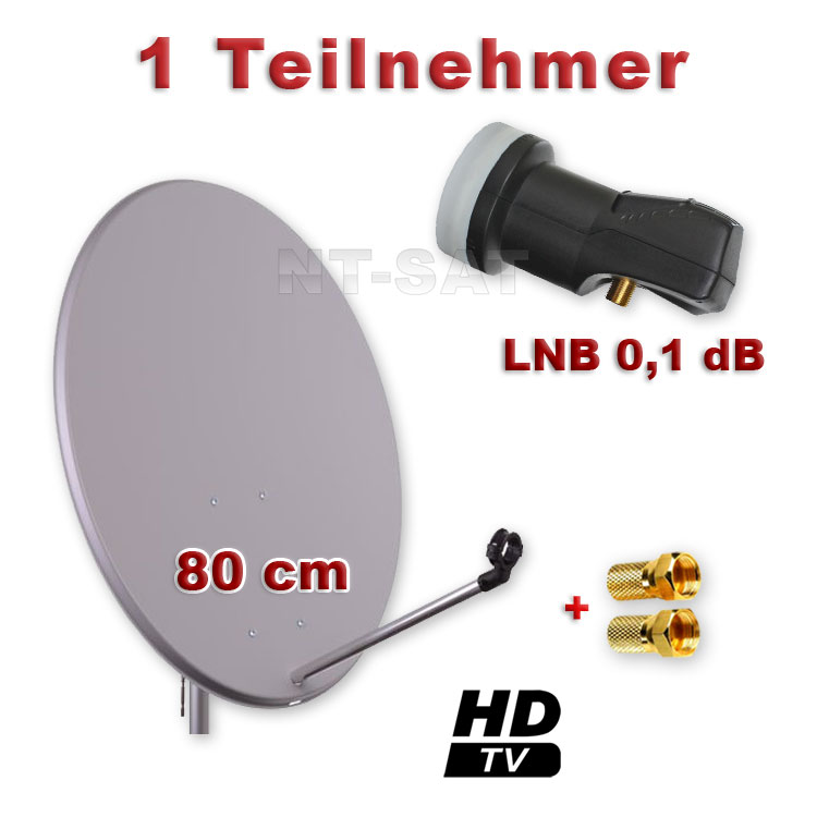 80cm hd sat installation digital single lnb 1 participant dish antenna dish ebay. Black Bedroom Furniture Sets. Home Design Ideas