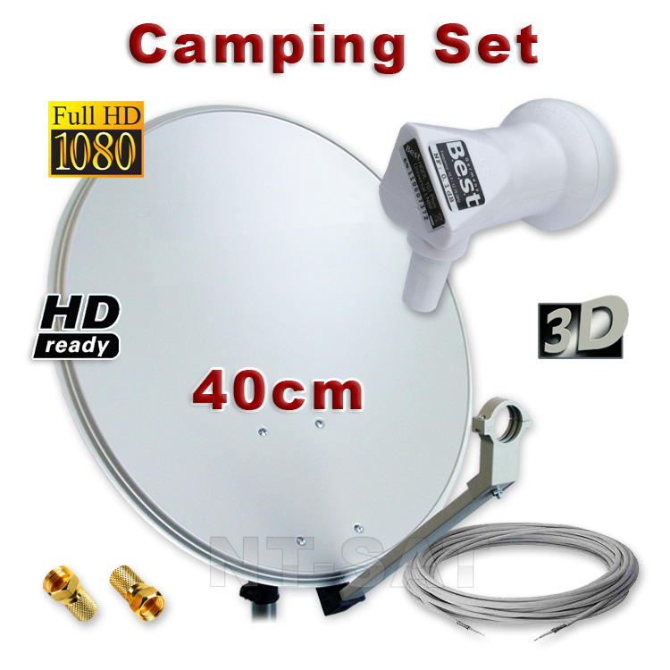digital camping hd satellite mirror 40cm lnb 10m sat cable antennae key ebay. Black Bedroom Furniture Sets. Home Design Ideas