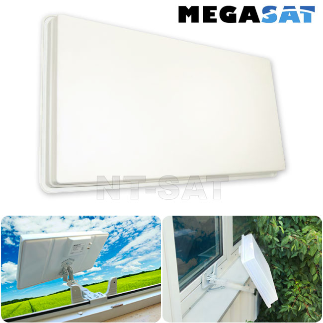 Megasat antenne plate h30 d1 single satellite avec support for Antenne fait maison