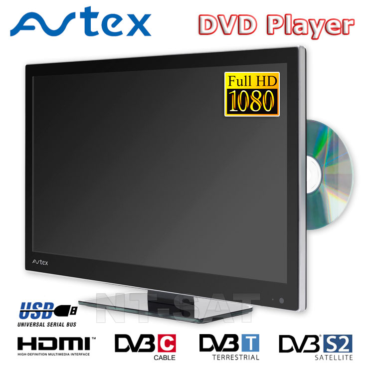tv avtex l236drs ci led tv dvd 23 6 inch for camping sat. Black Bedroom Furniture Sets. Home Design Ideas