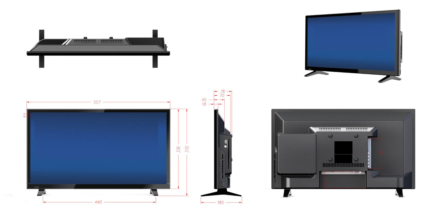 g camping tv dvb t 2 xoro 2445 hd ledtv mit dvd sat. Black Bedroom Furniture Sets. Home Design Ideas