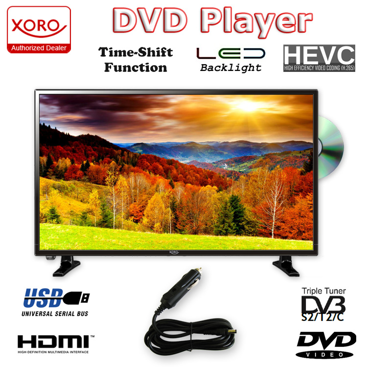 camping tv dvb t2 xoro 2448 hd ledtv mit dvd mit sat. Black Bedroom Furniture Sets. Home Design Ideas
