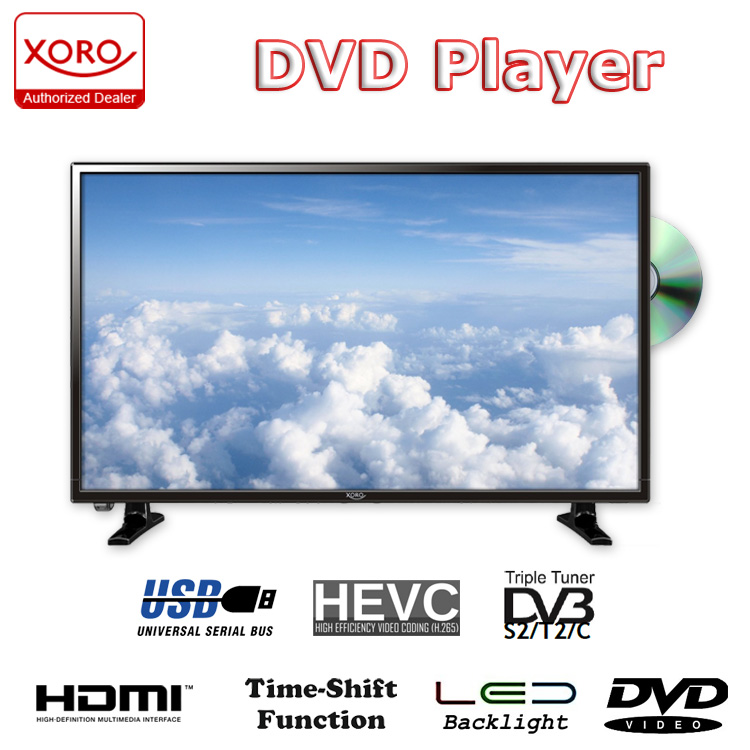 32 zoll fernseher dvb t2 hd ledtv mit dvd sat receiver. Black Bedroom Furniture Sets. Home Design Ideas